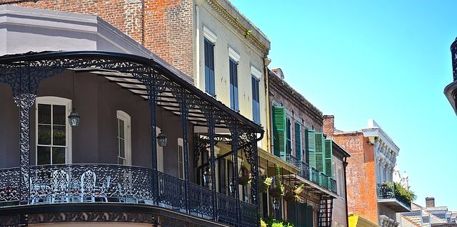 buildings in New Orleans' French Quarter